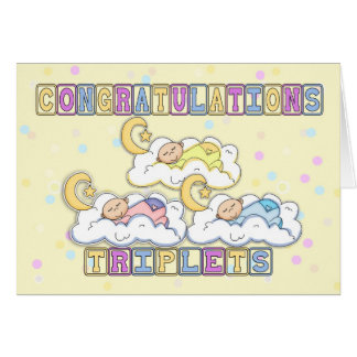 Triplets, Congratulations Birth Of Triplets - Thre Card