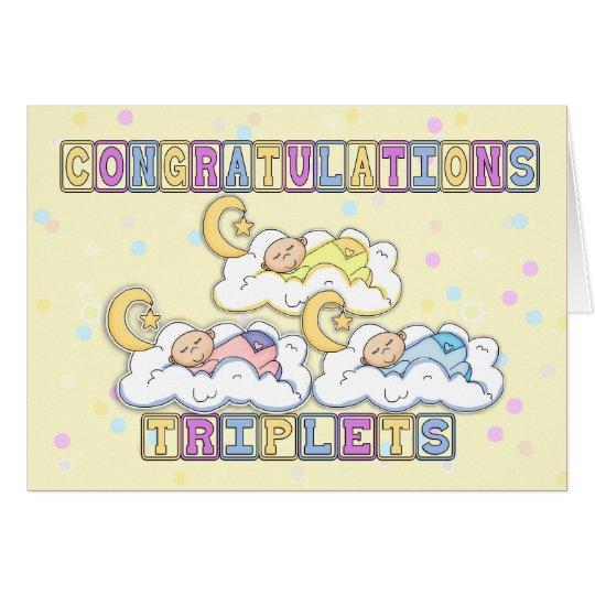 Triplets, Congratulations Birth Of Triplets - Thre Card