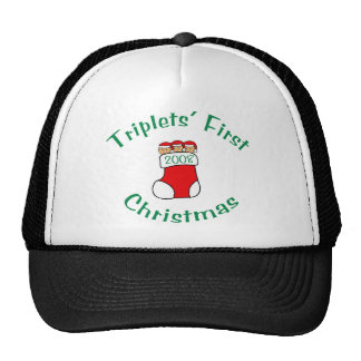 Triplets First Christmas - Stocking 2008 Cap