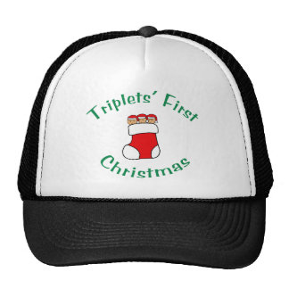 Triplets First Christmas - Stocking (no date) Cap