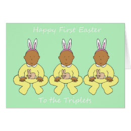 African american easter gifts on zazzle uk triplets first easter card negle Choice Image
