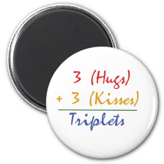 Triplets Math 6 Cm Round Magnet