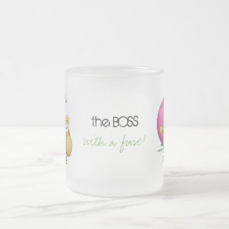 Triplets - Mom's the Bomb Frosted Glass Mug
