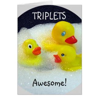"""TRIPLETS"" TRIPLE LOVE/HUGS/KISSES/FUN GREETING CARD"