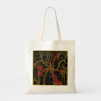Tripod Attacks Art Deco Tote
