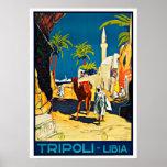 Tripoli Libia Libya Africa Vintage Travel Poster