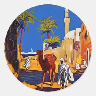 Tripoli - Libia (Libya) Classic Round Sticker