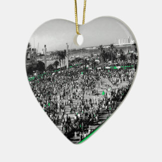 Tripoli, Libya [Green Stream] Ceramic Heart Decoration