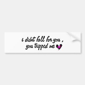 tripped love bumper sticker