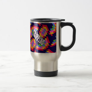 Tripping in Style: Retro Psychedelic Design Mug