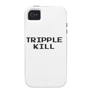 Tripple Kill Video Game Font Vibe iPhone 4 Cover