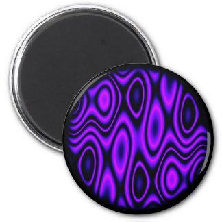 trippurple 6 cm round magnet