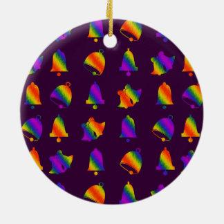 Trippy Bells Round Ceramic Decoration