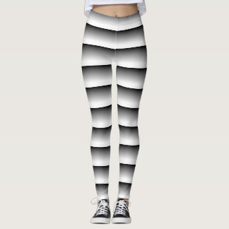 trippy black and white leggings