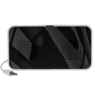 Trippy Black&White Abstract Travel Speakers