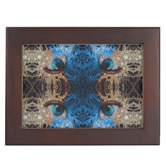 Trippy Blue Eye Abstract Keepsake Boxes