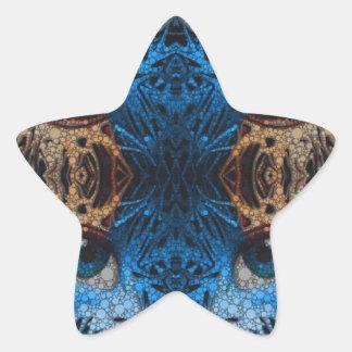 Trippy Blue Eye Abstract Star Sticker