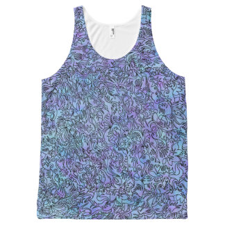 Trippy Blue Tank Top All-Over Print Tank Top