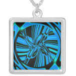 Trippy Blue Tunnel Personalized Necklace