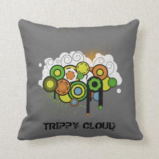 Trippy Cloud Customizable Cushion