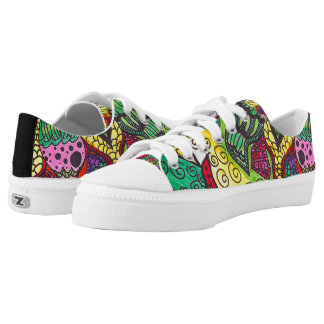 Trippy Colorful Mandala Printed Shoes