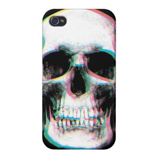 Trippy Colorful Skull iPhone Case iPhone 4 Cover