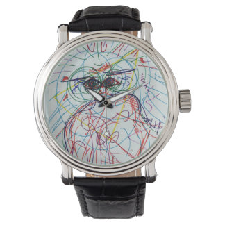 Trippy colourful watch vintage look