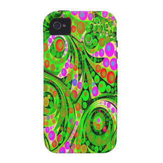 Trippy Florescent Abstract iPhone 4/4S Cases