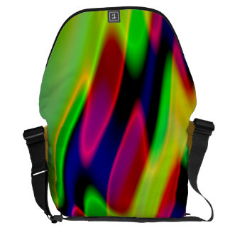 Trippy Florescent Abstract Waves Commuter Bag