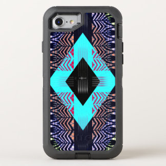 Trippy Florescent Turquoise Zebra Abstract OtterBox Defender iPhone 8/7 Case