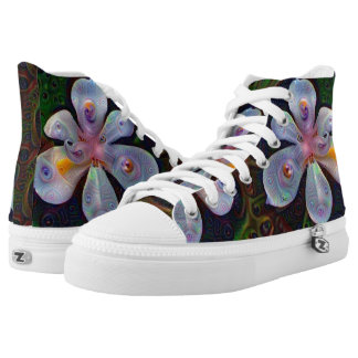trippy flower high tops