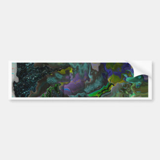 trippy flowers bumper sticker
