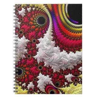 Trippy Fractal Art Decor Note Books