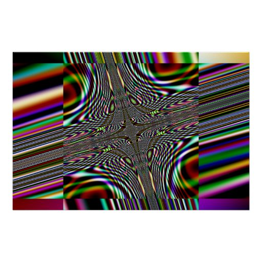 trippy fractal square poster