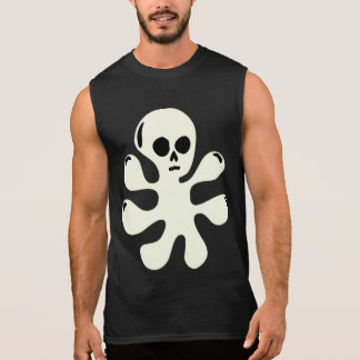 Trippy Ghost Skull Blob sleeveless shirt