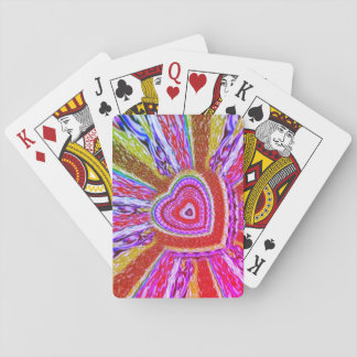 Trippy Hearts Playing Cards