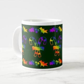 Trippy Holly Canes Large Coffee Mug