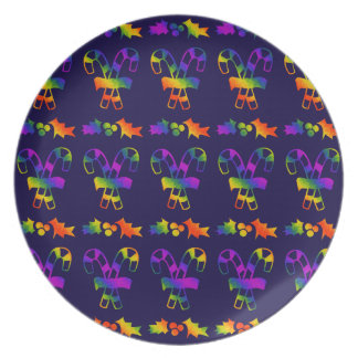 Trippy Holly Canes Plate
