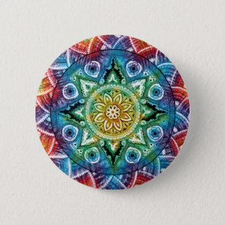 Trippy Mandala 6 Cm Round Badge
