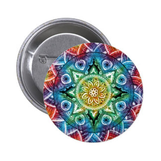 Trippy Mandala 6 Cm Round Badge