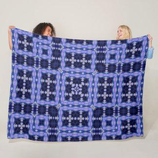 Trippy Neon Unicorn Satin Foulard Pattern Quilt Fleece Blanket