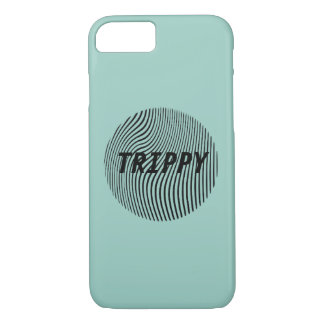 Trippy Optical Illusion Minimal w/ Pink iPhone 7 Case