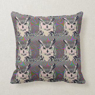 Trippy Owl Cushion