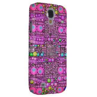 Trippy Pink Zebra Leopard Galaxy S4 Case