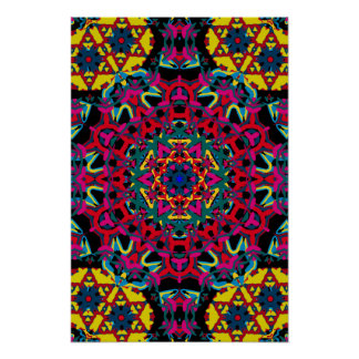 Trippy Poster: Psychedelic Kaleidoscope Artwork Poster