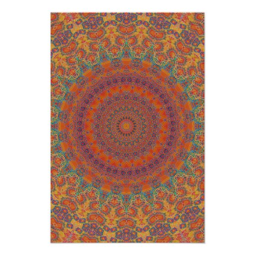 Trippy Poster: Psychedelic Radial Artwork