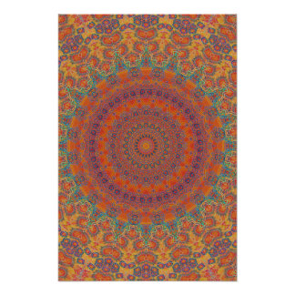 Trippy Poster: Psychedelic Radial Artwork Poster
