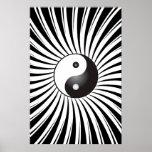 Trippy Poster: Yin Yang Symbol & Spiral Design Poster