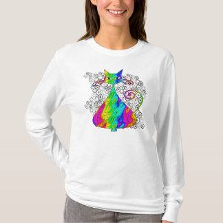 Trippy Psychedelic Cat Shirt