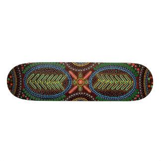 Trippy Psychedelic Geometrical Design Skateboard Deck